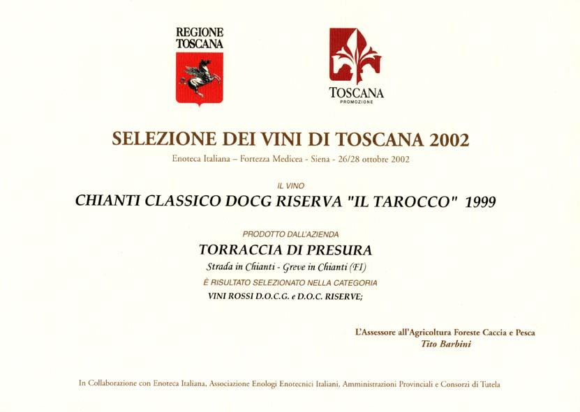 09 TARRIS 1999 Selez vini 2002 2002