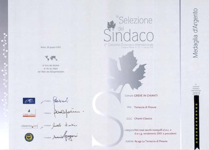 12 TDP 2001 Selez Sind 2003 2003