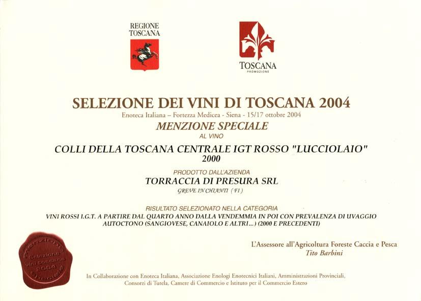 18 LUC 2000 Selez vini 2004 2004