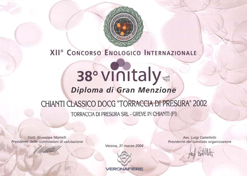 22 TDP 2002 Vinitaly38 2004 2004