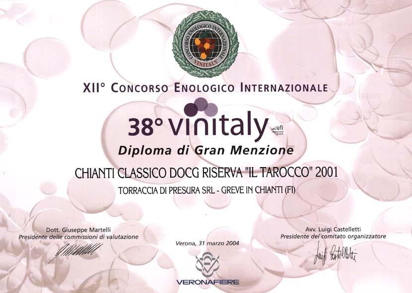28 TARRIS 2001 Vinitaly38 2004 2004
