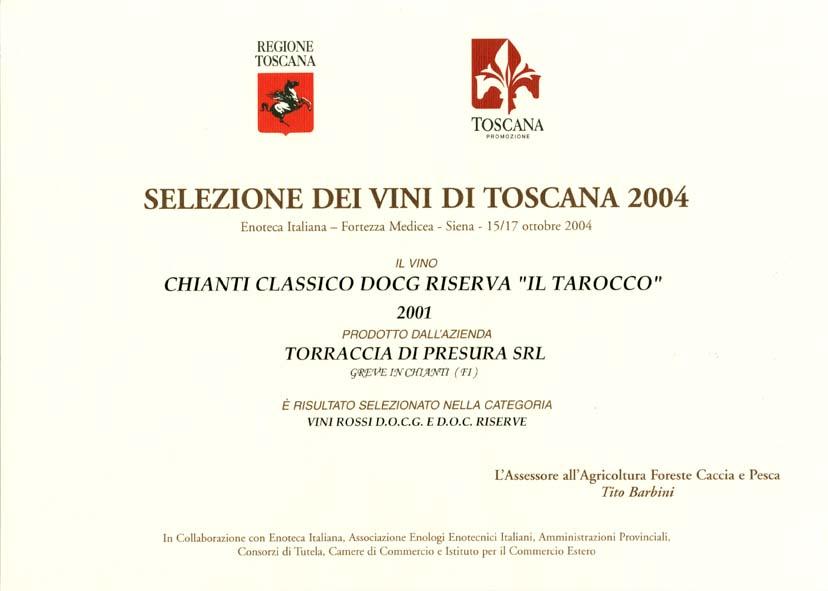 29 TARRIS 2001 Selez vini 2004 2004
