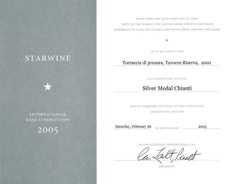 30 TARRIS 2001 Starwine 2005 2005