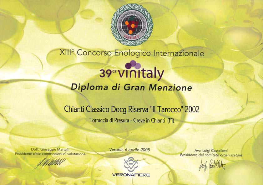 36 TARRIS 2002 Vinitaly39 2005 2005