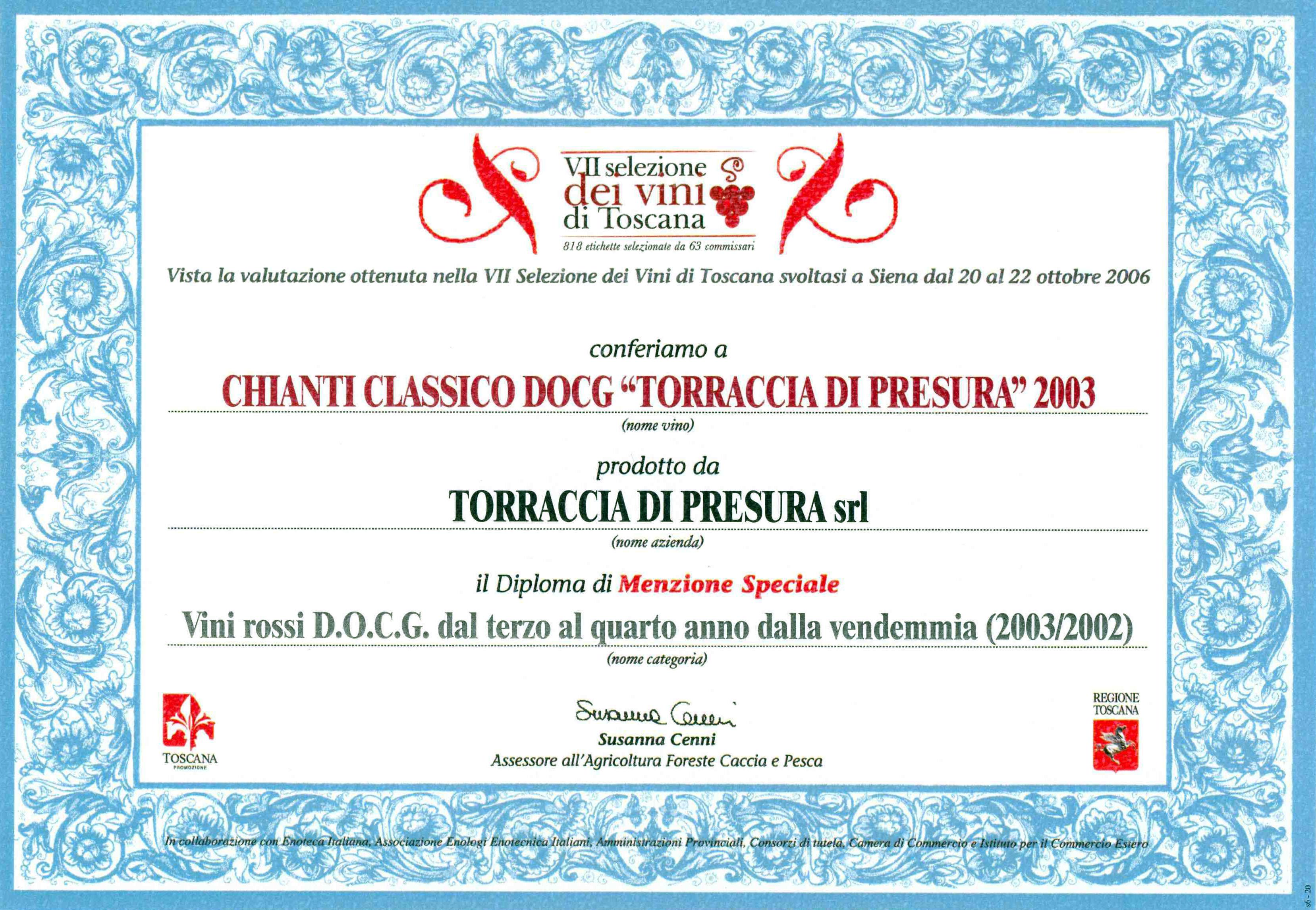 34 TDP 2003 Selez Vini 2006 2006