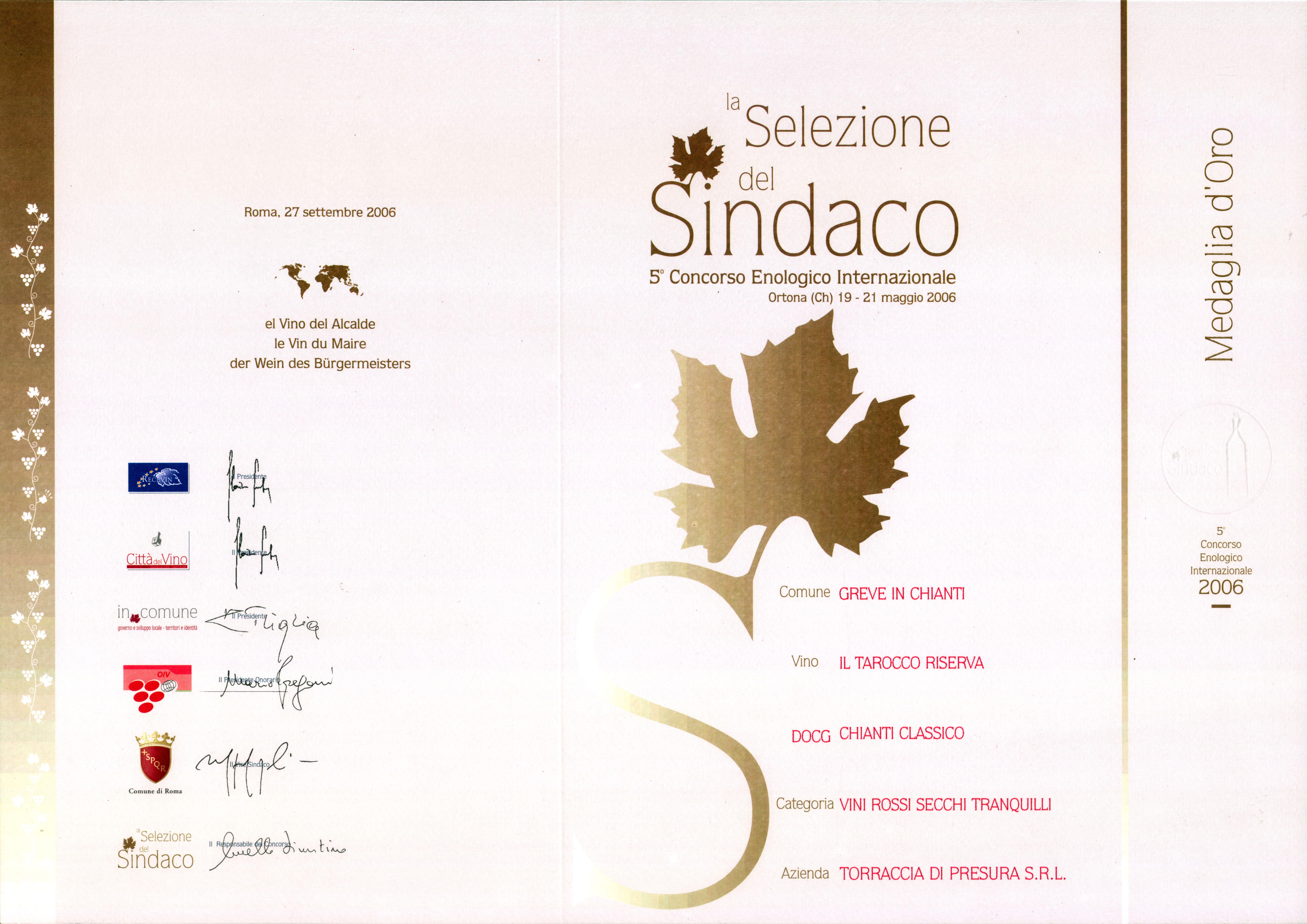 42 TARRIS 2003 Selez Sind 2006 2006