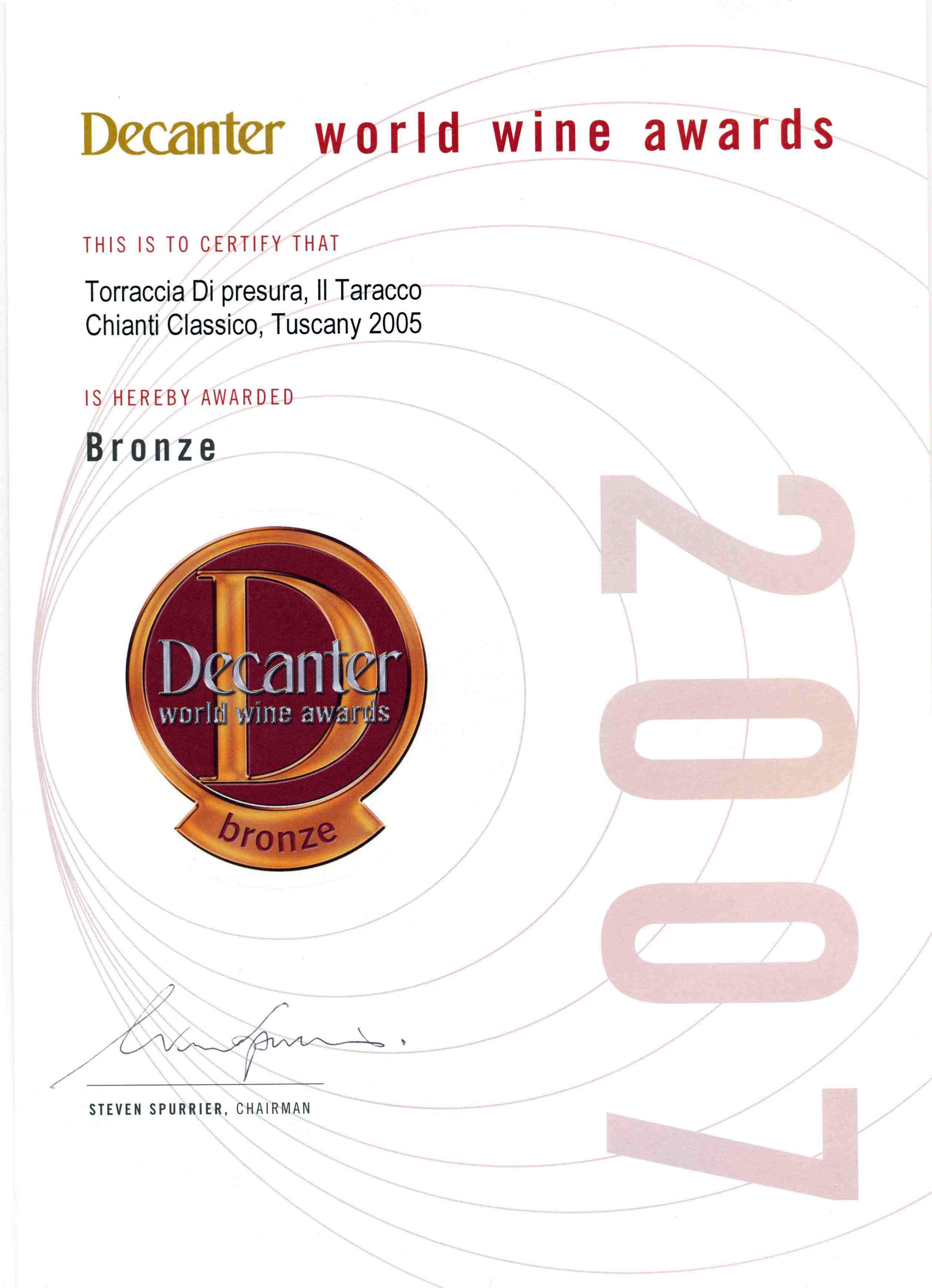 44 TAR 2005 Decanter 2007 2007